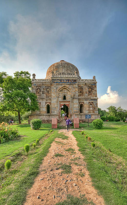 Arch Art Print featuring the photograph Sheesh Gumbad, Lodi Gardens, New Delhi by Mukul Banerjee Photography
