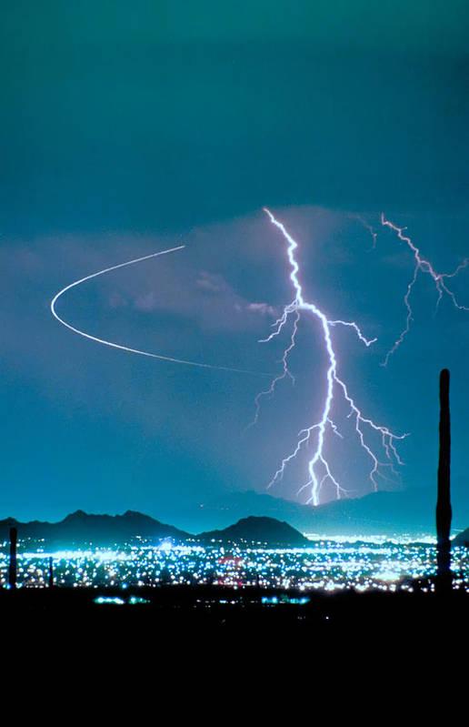 Lightning Art Print featuring the photograph Bo Trek The Lightning Man by James BO Insogna