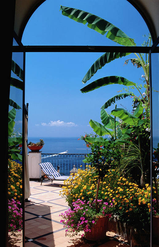 Tranquility Art Print featuring the photograph Doorway To Terrace At Hotel Punta by Dallas Stribley