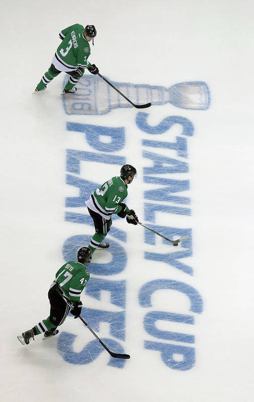 Playoffs Art Print featuring the photograph Minnesota Wild V Dallas Stars - Game Two by Tom Pennington