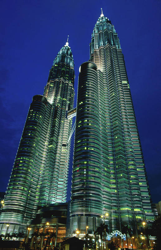 Southeast Asia Art Print featuring the photograph Petronas Towers by John Elk