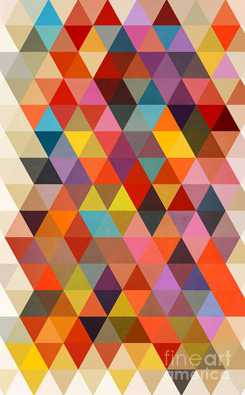 Contemporary Art Print featuring the painting Shapes by Mark Ashkenazi