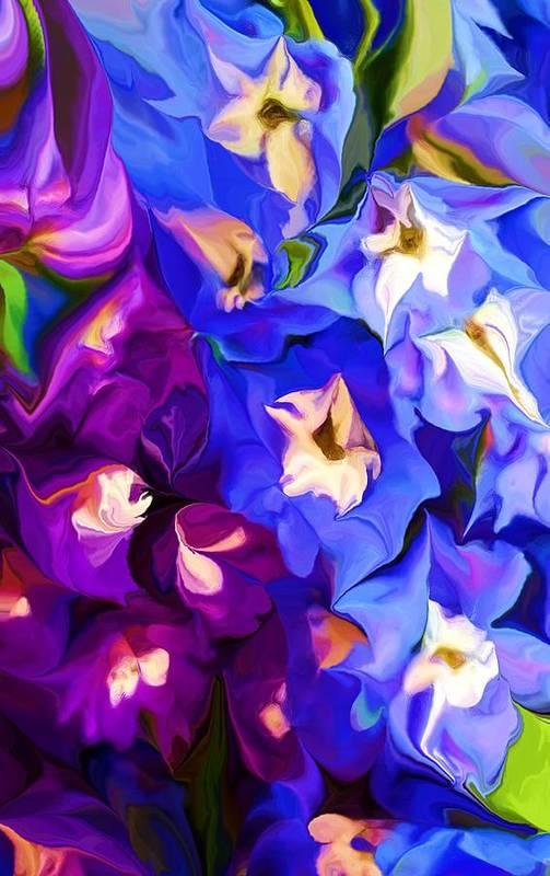 Fine Art Art Print featuring the digital art Flower Arrangement 012812 by David Lane