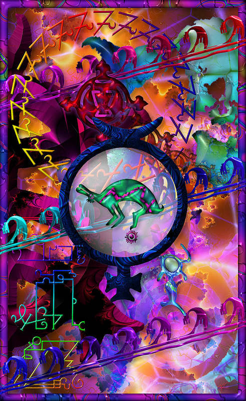 Symagery Art Print featuring the digital art Symagery 23 by Kenneth Armand Johnson