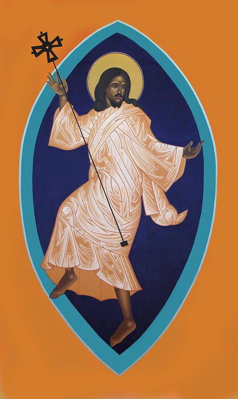 Dancing Saint Icon Art Print featuring the painting Dancing Christ by Mark Dukes