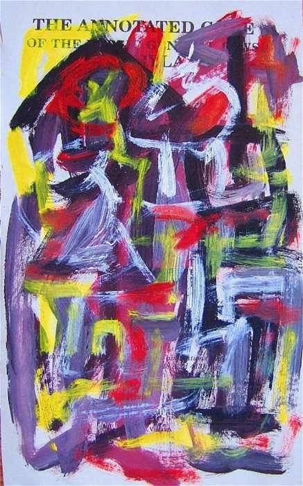 Abstract Art Art Print featuring the painting Abstract On Paper No. 29 by Michael Henderson