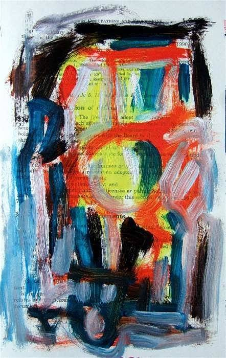 Abstract Art Art Print featuring the painting Abstract On Paper No. 34 by Michael Henderson