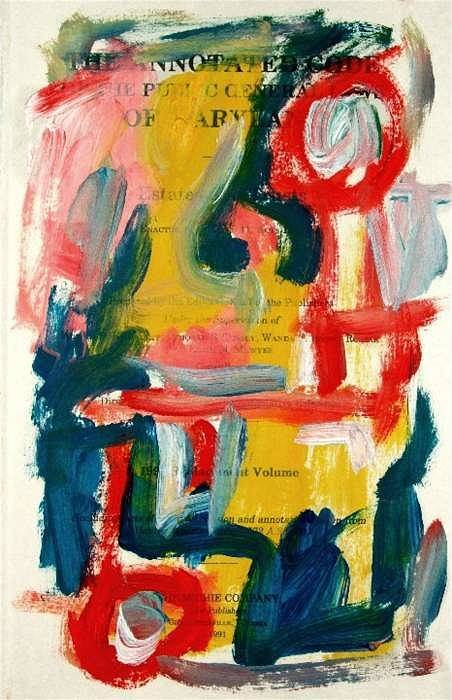 Abstract Art Art Print featuring the painting Anstract On Paper No. 18 by Michael Henderson
