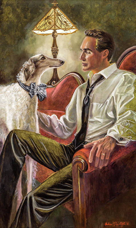 Barbara Tyler Ahlfield Art Print featuring the painting Best Friends Rendezvous by Barbara Tyler Ahlfield