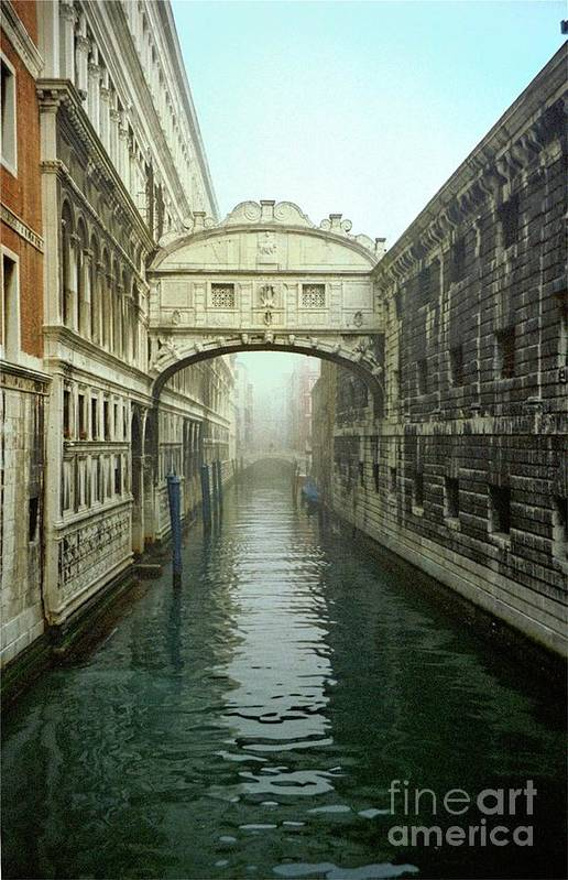 Venice Art Print featuring the photograph Bridge Of Sighs In Venice by Michael Henderson