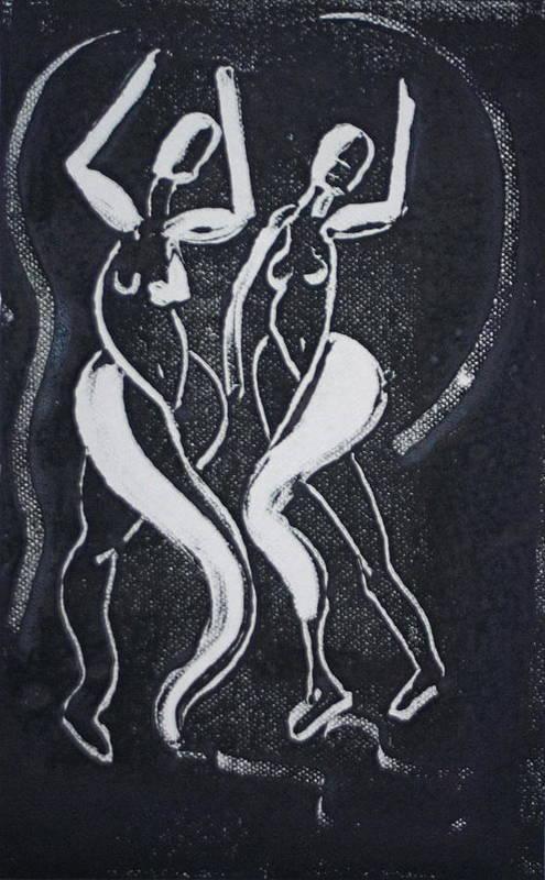 Dance Art Print featuring the painting Dance III by Dan Earle