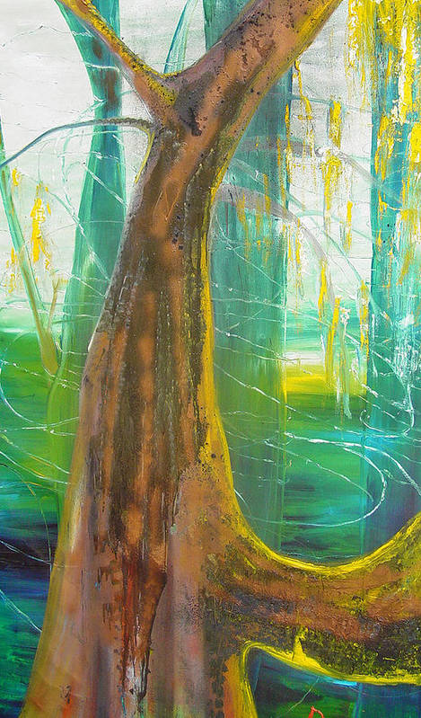 Landscape Art Print featuring the painting Georgia Morning by Peggy Blood