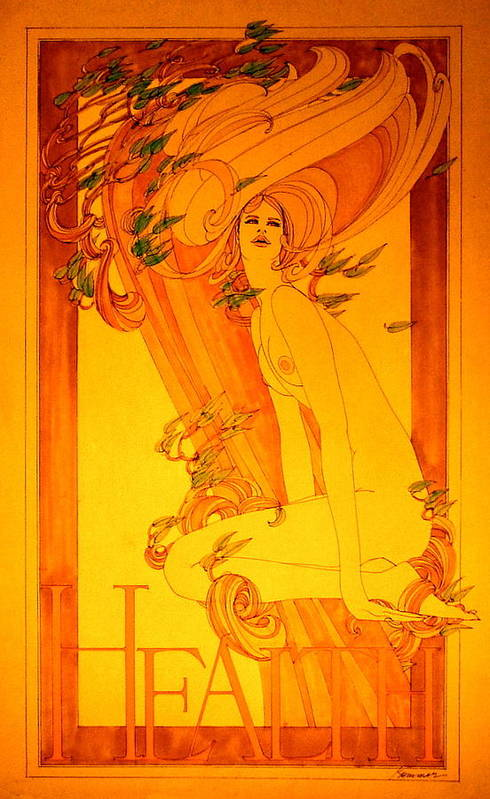 Female Art Print featuring the painting Goddess Of Health by Gary Kaemmer