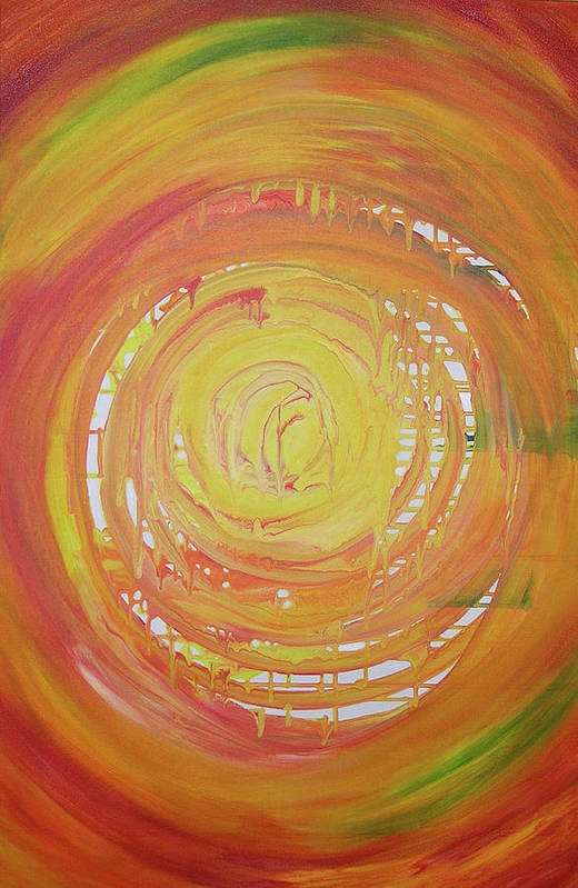 Abstract Art Print featuring the painting Heat Wave by Bonnie Lanzillotta