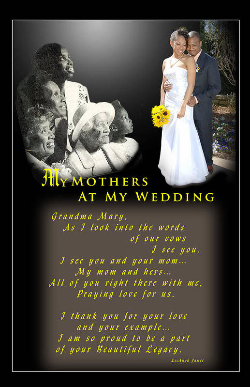 Wedding Art Print featuring the photograph Mothers Blessings by Richard Gordon