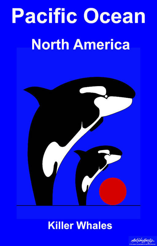 Art Print featuring the digital art Pacific Ocean - North America by Asbjorn Lonvig