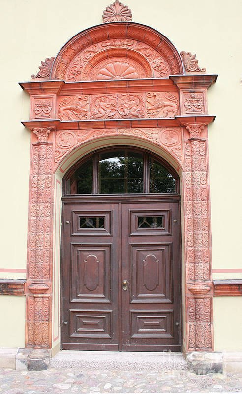 Door Art Print featuring the photograph Richly Ornamented Door by Christiane Schulze Art And Photography
