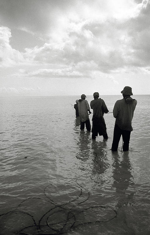Pemba Island Art Print featuring the photograph rope hauling BandW by Marcus Best