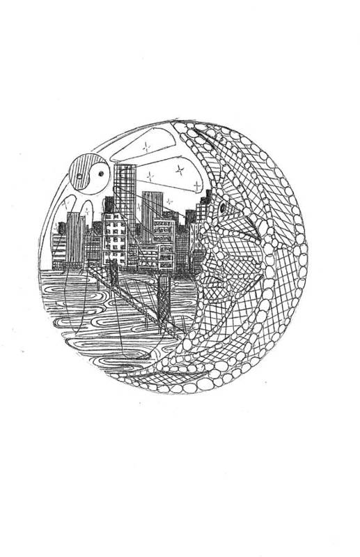 Art Print featuring the drawing Safety Net by Harry Richards