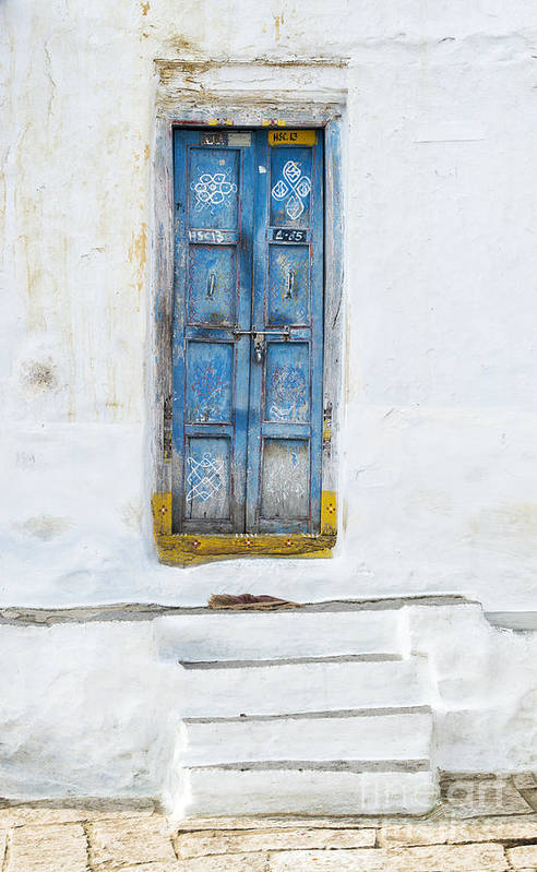 South Indian Art Print featuring the photograph South Indian Door by Tim Gainey
