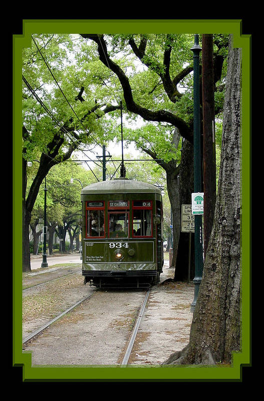 New Orleans Art Print featuring the photograph St. Charles Street Car by Linda Kish