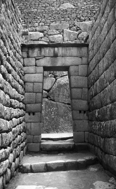 Machu Picchu Art Print featuring the photograph Stone Door by Marcus Best