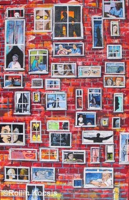 People Art Print featuring the painting Stories by Rollin Kocsis