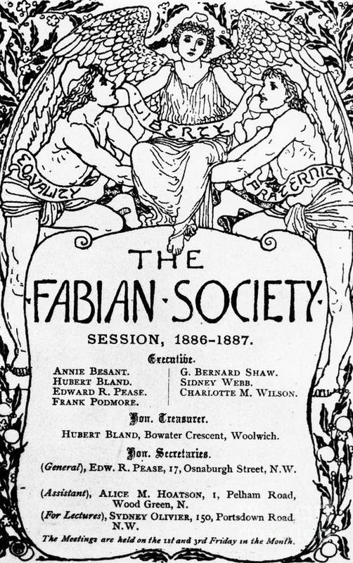 The Fabian Society Report Art Print featuring the drawing The Fabian Society Report by Walter Crane