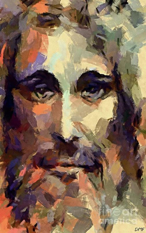 Jesus Art Print featuring the painting The Holy Face Of Jesus by Dragica Micki Fortuna