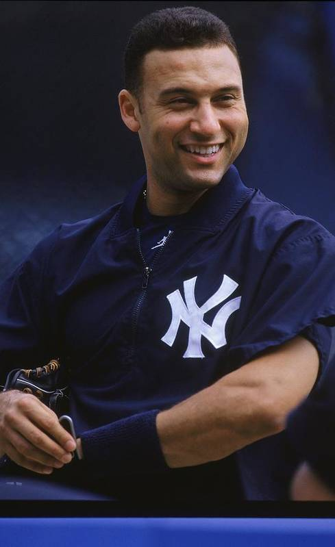 People Art Print featuring the photograph Derek Jeter 2 by Jamie Squire