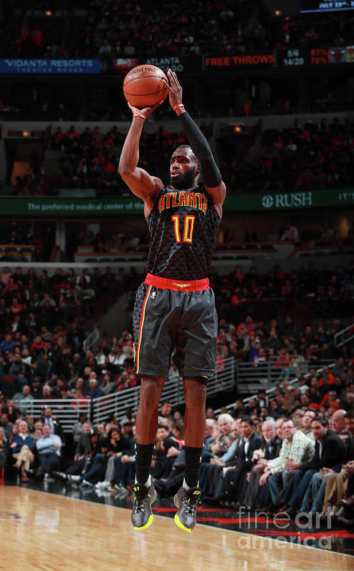 Tim Hardaway Jr. Art Print featuring the photograph Atlanta Hawks V Chicago Bulls by Jeff Haynes