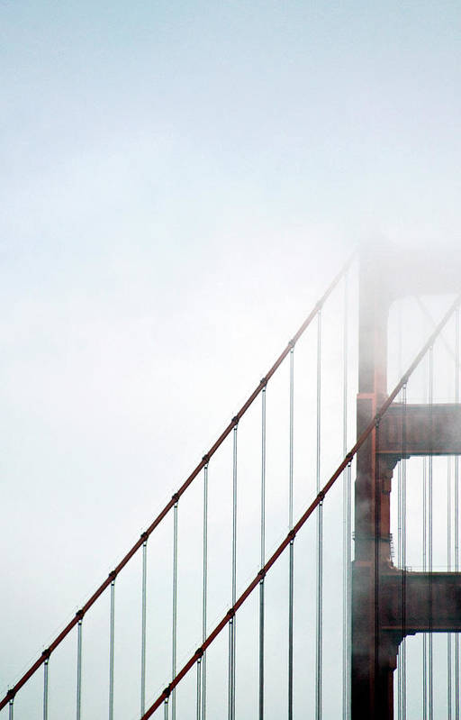 Scenics Art Print featuring the photograph Bridge In Fog by By Ken Ilio