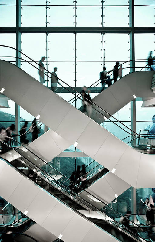 People Art Print featuring the photograph Escalator by Ymgerman