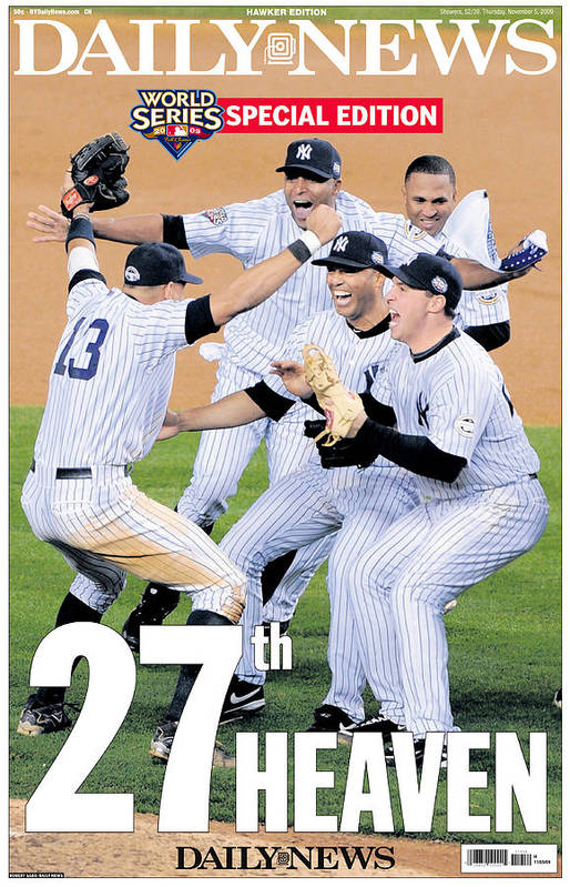 Celebration Art Print featuring the photograph Front Page Wrap Of The Daily News by New York Daily News Archive