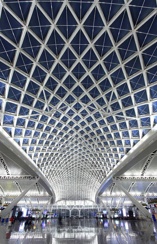 Chinese Culture Art Print featuring the photograph Guangzhou Railway Station by Real444