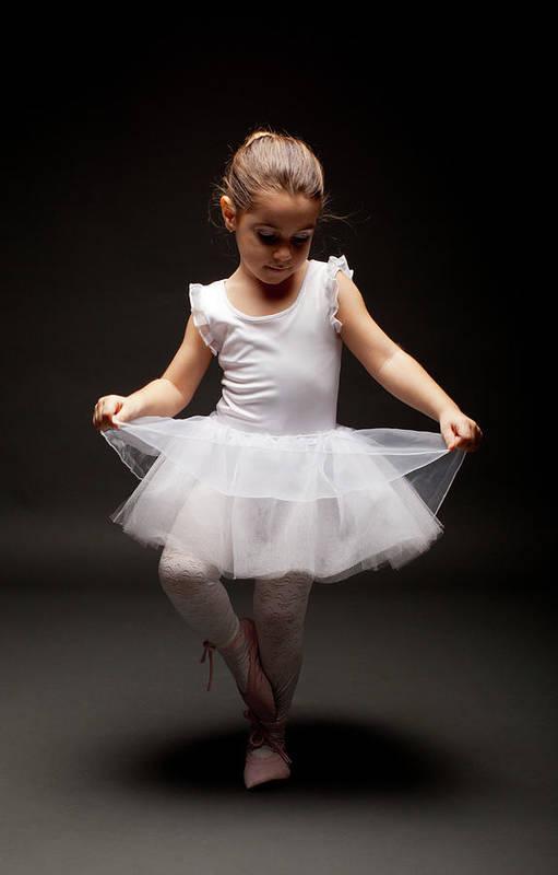 Toddler Art Print featuring the photograph Little Ballerina by Georgijevic