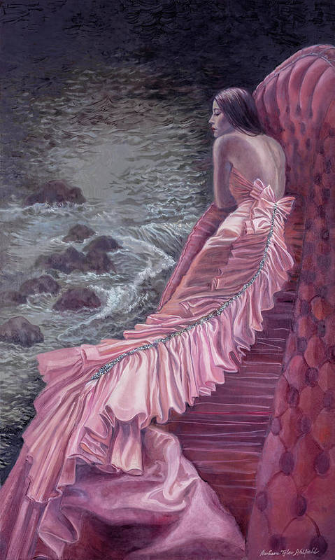 Fashion Art Print featuring the painting Pink Taffeta by Barbara Tyler Ahlfield