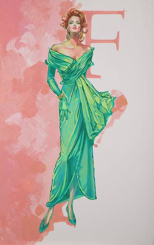 Fashion Illustration Art Print featuring the painting Spring Fling by Barbara Tyler Ahlfield