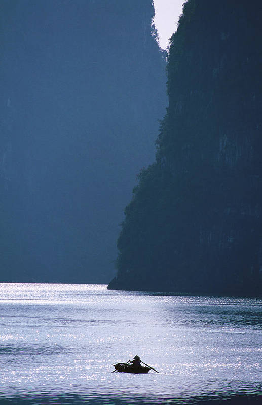 Tranquility Art Print featuring the photograph Woman Navigates Among Magnificent by Stu Smucker