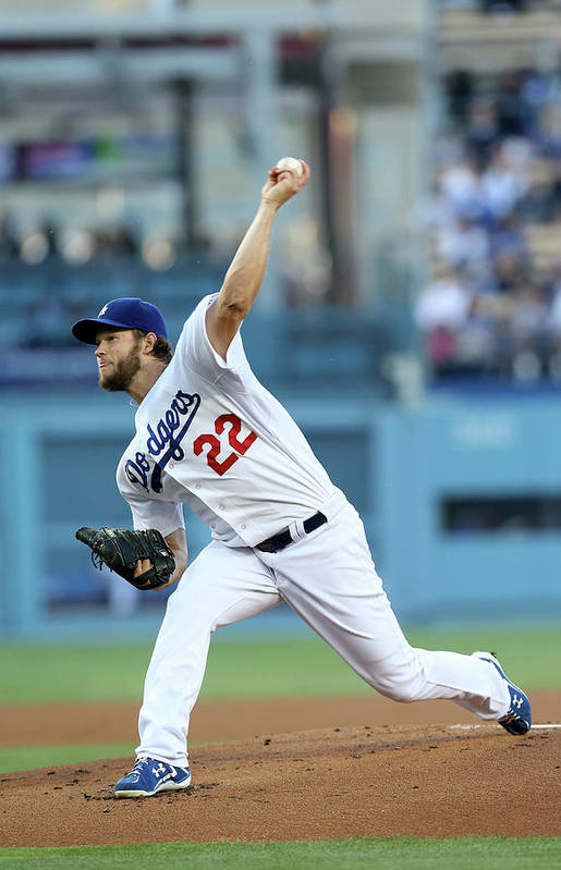 People Art Print featuring the photograph Clayton Kershaw by Stephen Dunn
