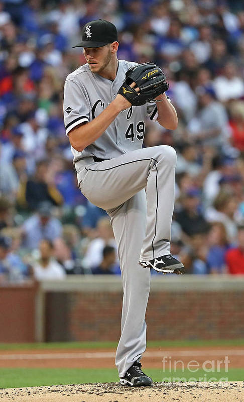 People Art Print featuring the photograph Chris Sale by Jonathan Daniel