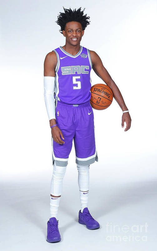 Media Day Art Print featuring the photograph De'aaron Fox by Rocky Widner