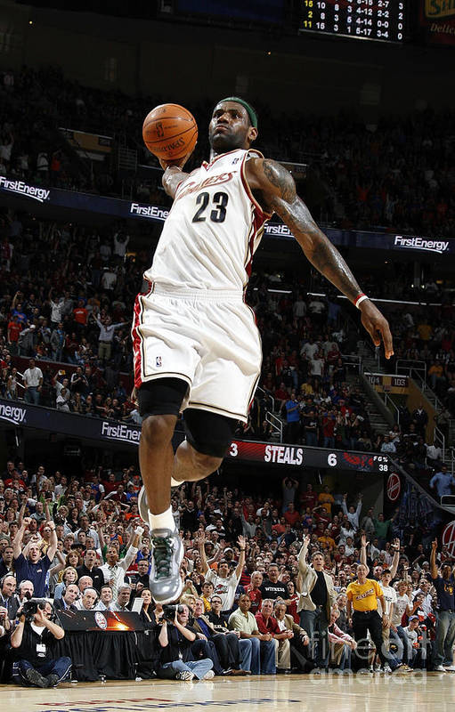 Nba Pro Basketball Art Print featuring the photograph Lebron James by Gregory Shamus