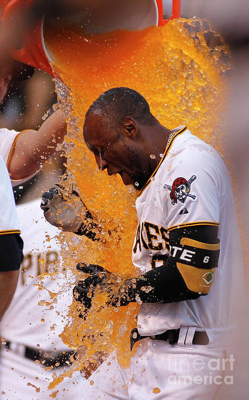 Three Quarter Length Art Print featuring the photograph Starling Marte by Justin K. Aller