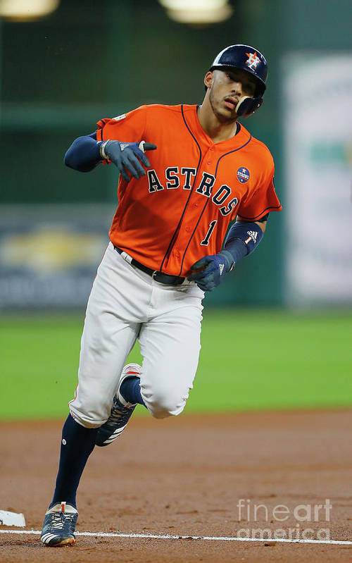 Game Two Art Print featuring the photograph Carlos Correa by Bob Levey
