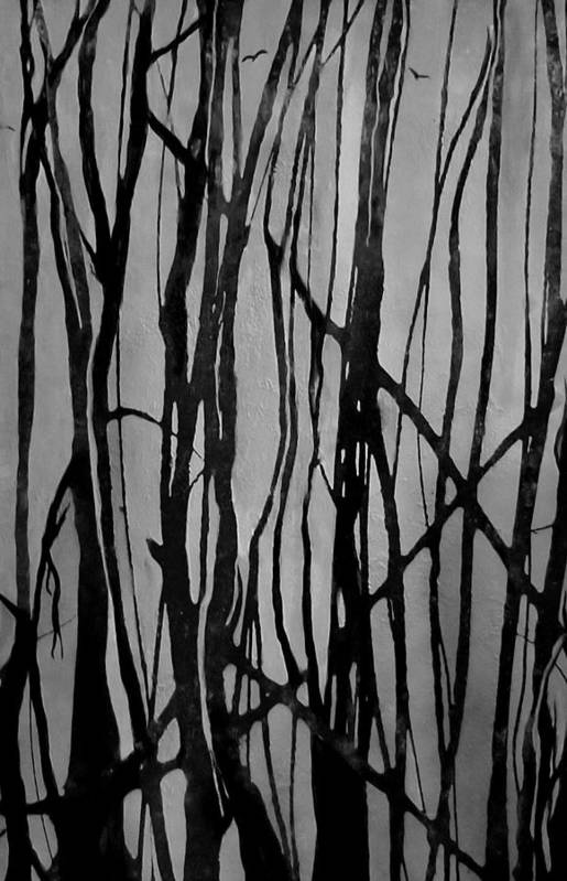 Forest Art Print featuring the painting Bare by Valerie Josi