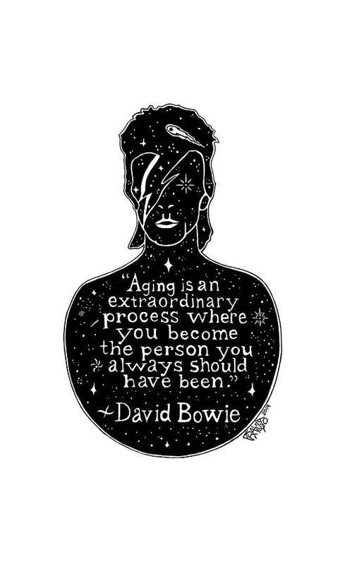 Pen And Ink Illustration Art Print featuring the drawing David Bowie Drawing by Rick Frausto