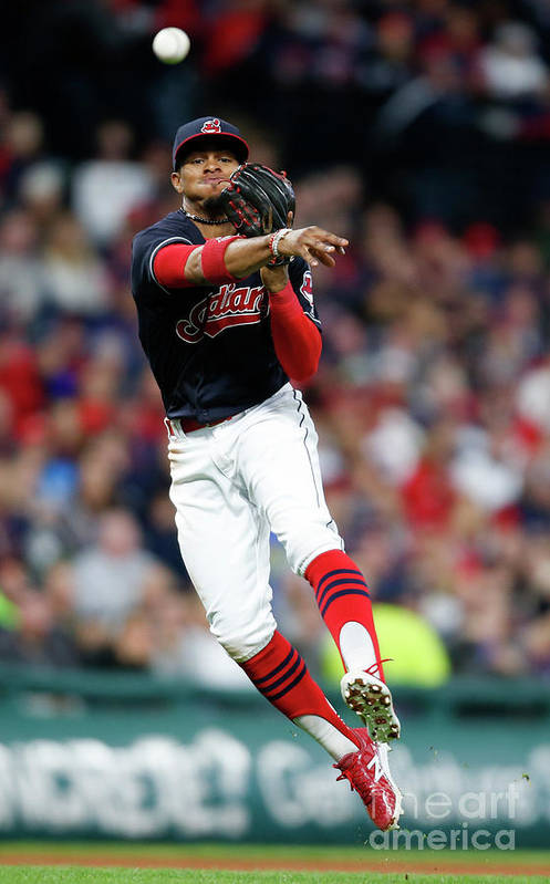 People Art Print featuring the photograph Francisco Lindor by Ron Schwane
