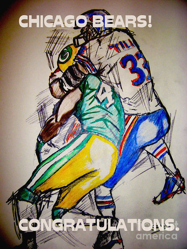 Sports Art Print featuring the drawing Footballs Greatest by Sidney Holmes