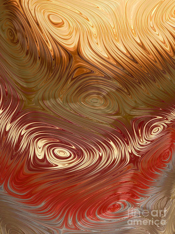 Fractal Art Print featuring the digital art Earth Tones by Heidi Smith